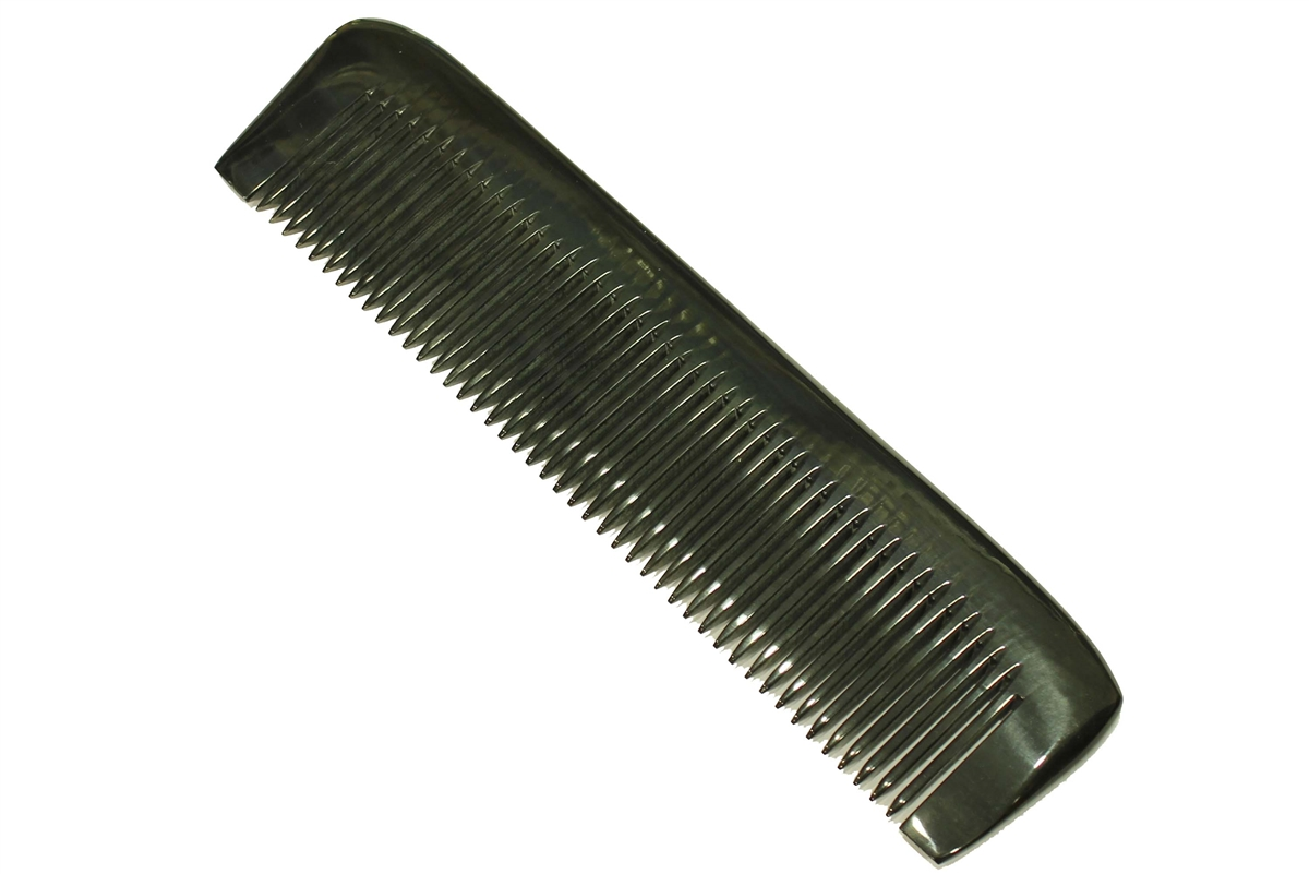 Buffalo Horn Hair Amp Beard Comb With Straight Back Medium