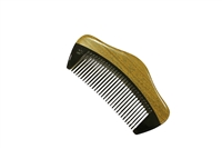 horn comb with wooden frame jm003