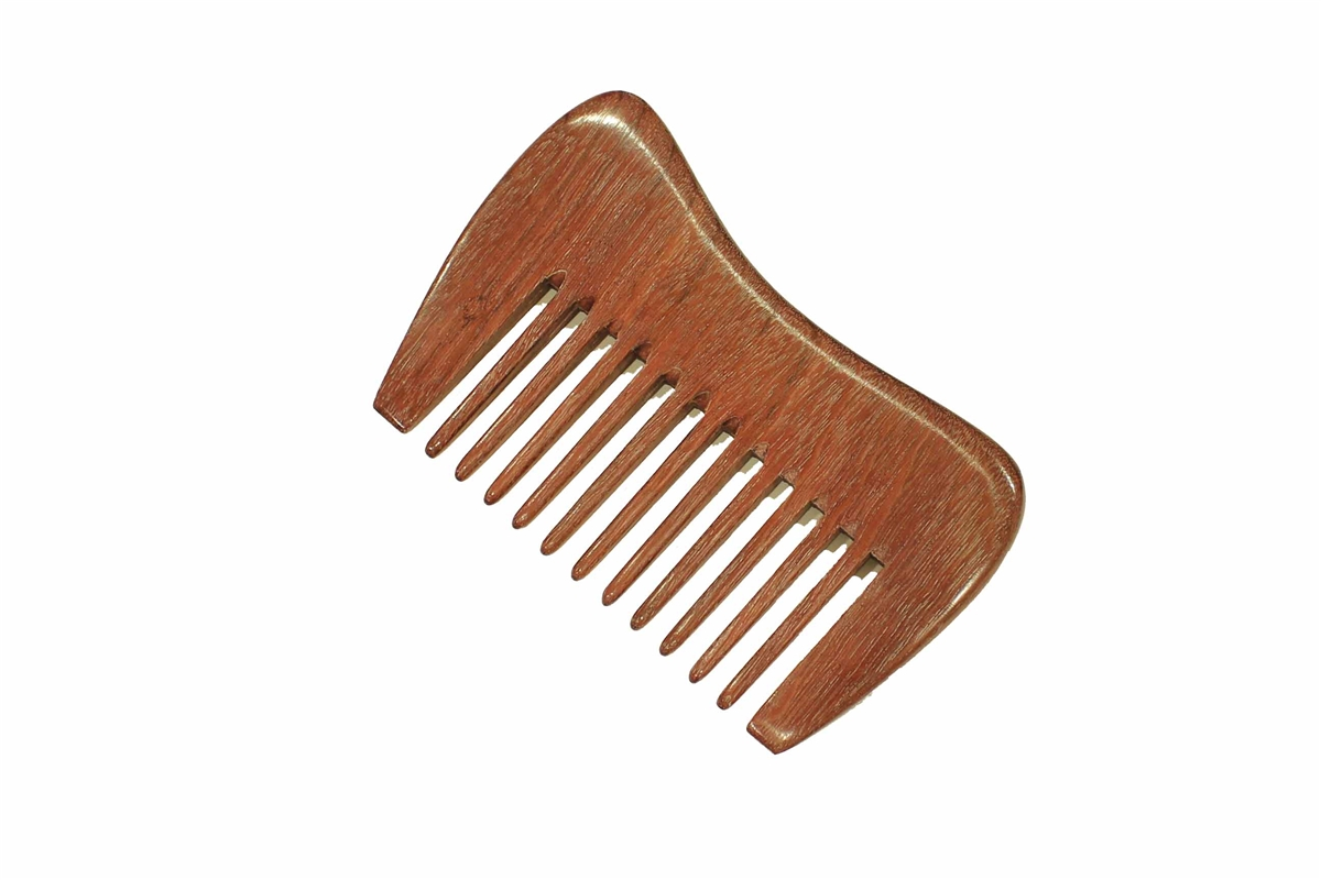 wide tooth comb purpleheart hair beard comb with curvy ...