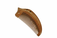 medium tooth red sandalwood pocket comb wc042red