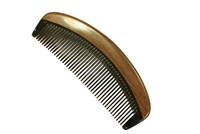 horn comb with wooden frame jm002