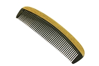 horn comb with wooden frame jm004