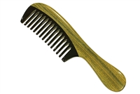 horn comb with wooden frame jm005
