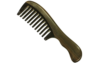 horn comb with wooden frame jm006