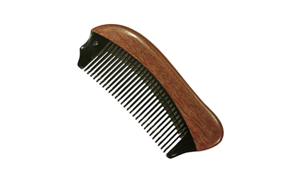 horn comb with wooden frame jm009