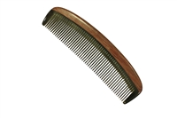 horn comb with wooden frame jm011