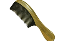 horn comb with wooden frame jm012