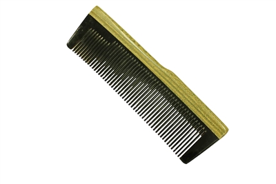 horn comb with wooden frame jm015