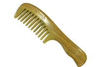wide tooth green sandalwood comb wc012