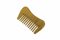 wide tooth green sandalwood pocket comb wc014
