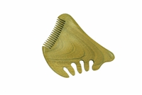fine tooth green sandalwood beard comb wc015