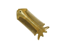 fish-shaped green sandalwood comb wc017