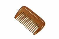 wide tooth brown sandalwood comb wc022
