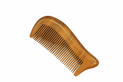 medium tooth brown sandalwood comb wc023
