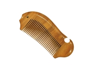 medium tooth brown sandalwood comb wc025