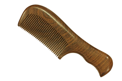 medium tooth brown sandalwood comb wc034