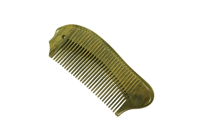 medium tooth green sandalwood pocket comb wc039