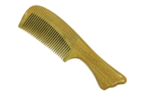 medium tooth green sandalwood comb wc040