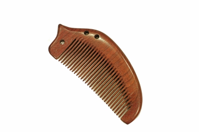 medium tooth purple sandalwood pocket comb wc042purple
