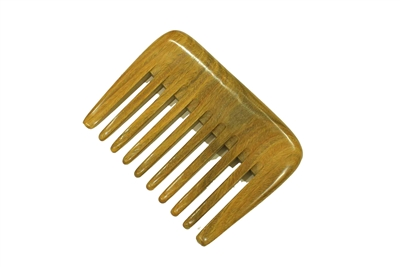 wide tooth green sandalwood pocket comb wc051