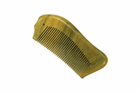 medium tooth green sandalwood pocket comb wc052