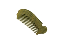 medium tooth green sandalwood pocket comb wc053
