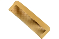 medium tooth peachwood comb