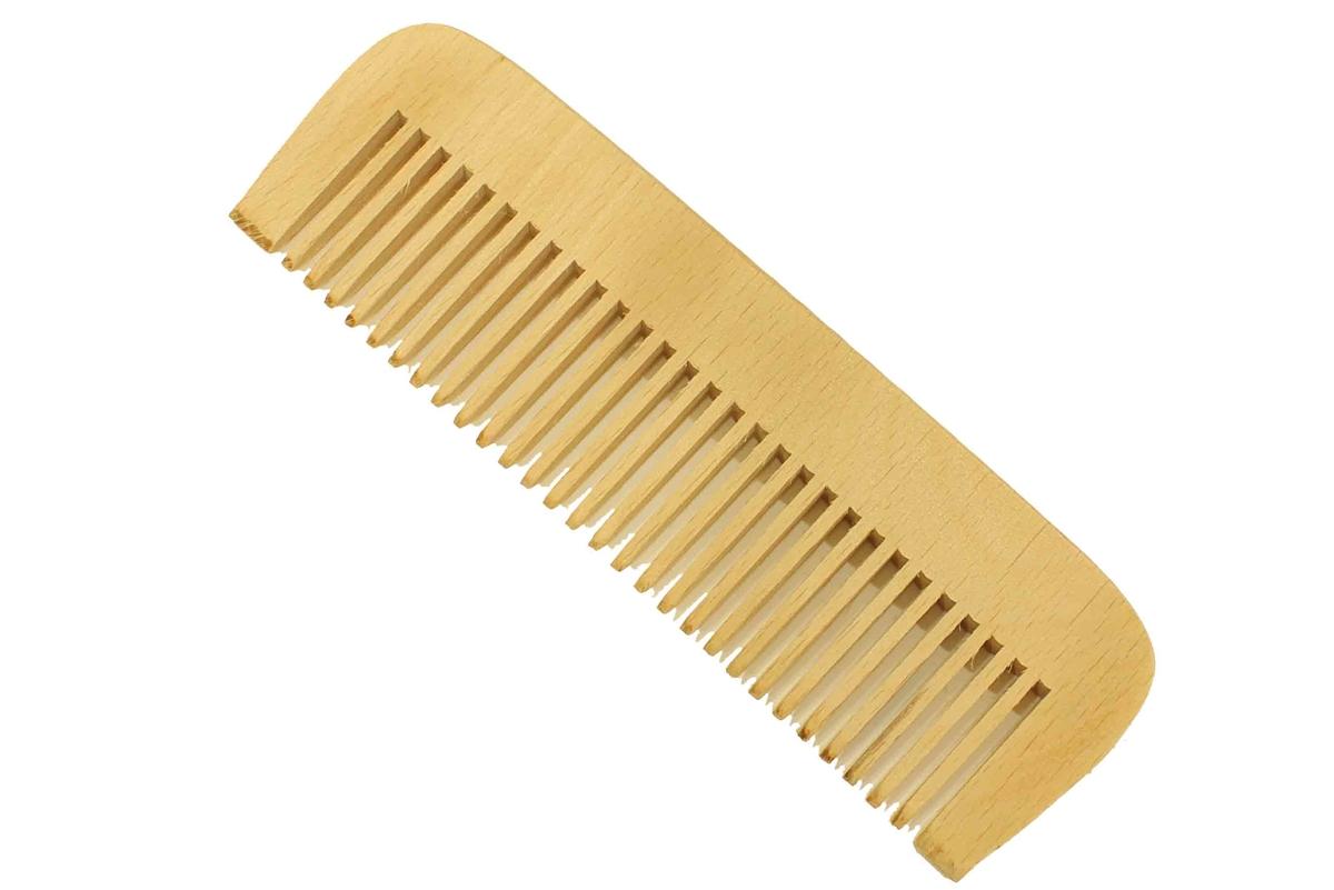 Flat Back Peachwood Hair Amp Beard Comb Wide Tooth 50