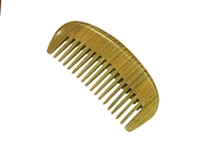 wide tooth green sandalwood pocket comb wc057