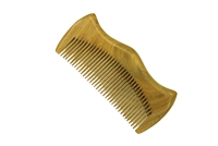 medium tooth green sandalwood pocket comb wc060