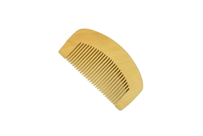 medium tooth boxwood pocket comb wc064