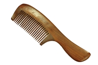 wide tooth rosewood comb with handle wc068