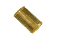 Fine tooth green sandalwood pocket comb wc071