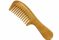 wide tooth rosewood comb with handle wc076