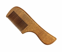 medium tooth red sandalwood pocket comb
